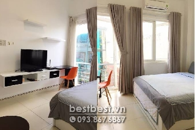 Serviced apartment for rent in Binh Thanh District  - This apartment is situated on Nguyen Ngoc Phuong Street, Close to Japanese area Le Thanh Ton street. There are a lot of Restaurants, Shop, Convenient Store  surrounding. 